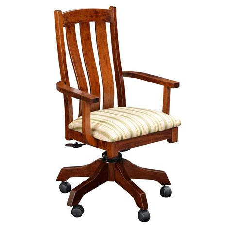 raleigh desk chair amish crafted furniture