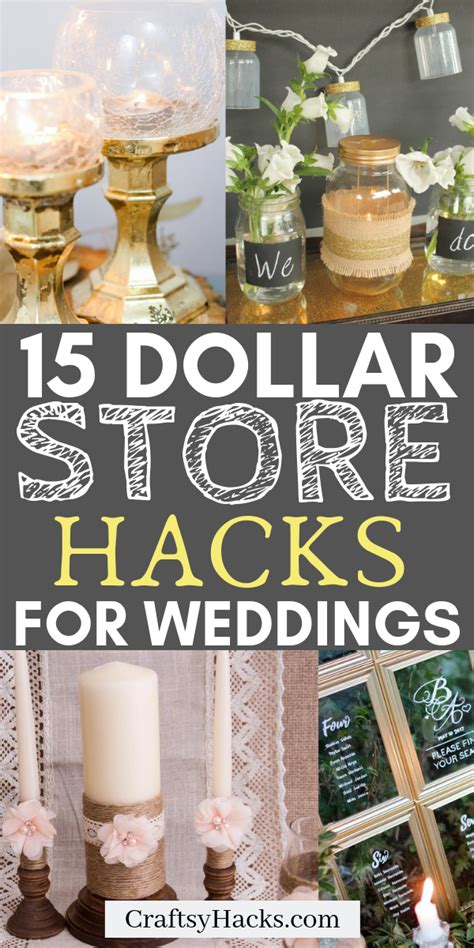 15 Dollar Store Wedding Hacks for Low Budgets Diy