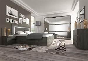 armoire contemporaine 2 portes coulissantes chene noir With photos de chambre contemporaine