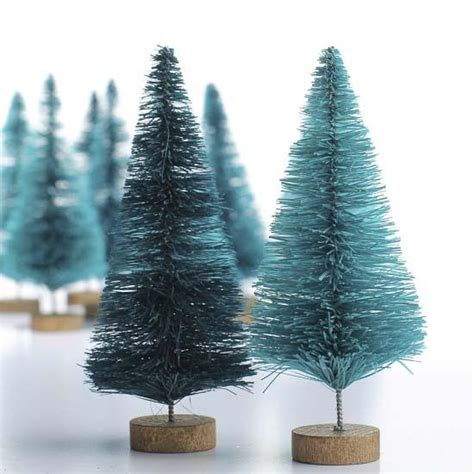 small green bottle brush trees christmas trees and
