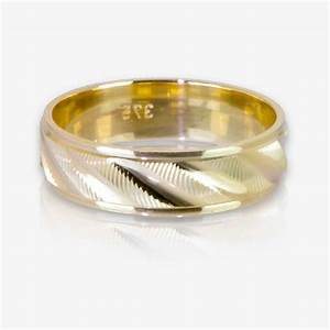 9ct gold ladies luxury weight patterned wedding band With patterned wedding rings