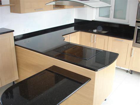 plan de travail cuisine noir plan de travail cuisine granit noir plan de travail en