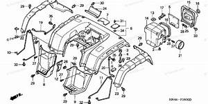 Honda Atv 2001 Oem Parts Diagram For Rear Fender 1