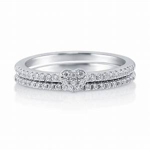 Ring Set Silber : berricle sterling silver cz heart promise stackable ring set carat ebay ~ Eleganceandgraceweddings.com Haus und Dekorationen