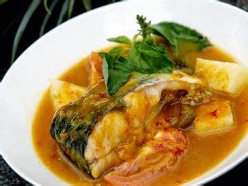 Sajian ikan yang dimasak dengan daun kemangi, bumbu, rempah serta perasan jeruk nipis ini rasanya hhhhhm sedap dan. Masakan Indonesia: Resep Ikan Kuah Kuning Khas Ambon