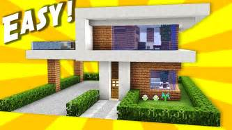 minecraft simple easy modern house mansion tutorial how to build 10 interior my