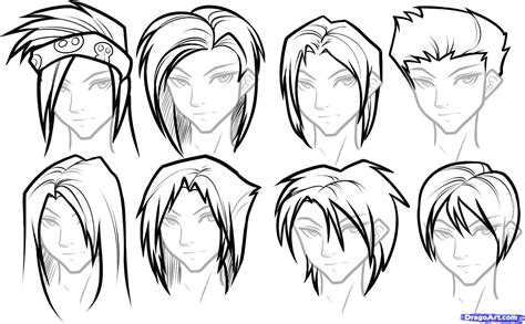 draw hair  boys step  step hair people