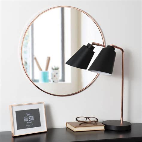 spiegel rund 50 cm spiegel grazzia rund aus verkupfertem metall d 50 cm
