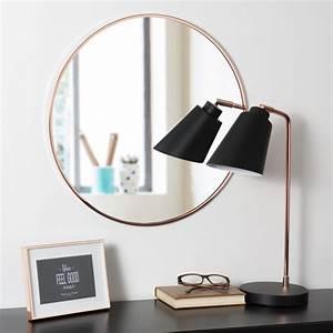 Miroir Rond 50 Cm : miroir rond en m tal cuivr d 50 cm grazzia maisons du monde ~ Dailycaller-alerts.com Idées de Décoration