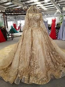 haute couture gold wedding dress hand made evening gown With gold wedding dresses for sale