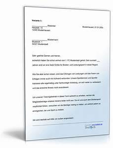 Einverständniserklärung Fitnessstudio Vorlage : sponsoringschreiben f r sportverein de musterbrief download ~ Themetempest.com Abrechnung