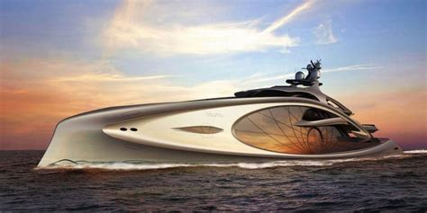 Yacht In The Water Song by The Splendid Nouveau Superyacht Concept By Andy Waugh