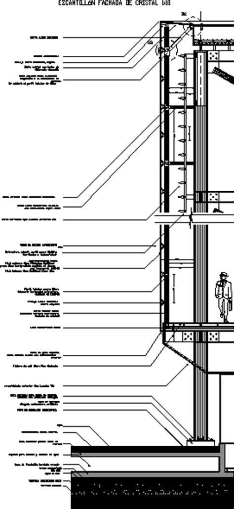 curtain wall in autocad drawing bibliocad