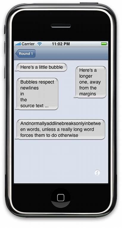 Bubbles Bubble Text Sms