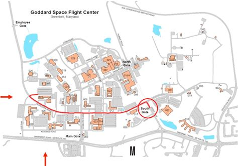 Goddard Campus Map.Goddard Space Flight Center Campus Map Poisk Po Kartinkam Red