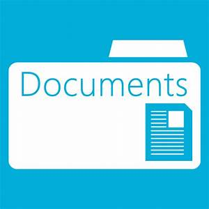 folder documents folder icon windows 8 metro icons With windows 8 my documents folder
