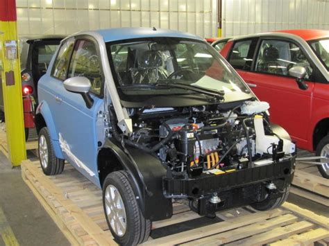 Think Electric Car by Last Few Think City Electric Cars Being Finished In Indiana