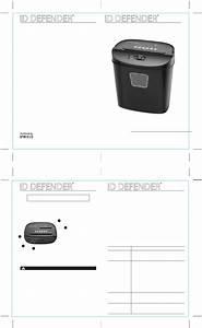 Homedics Id Defender Id-101 User U0026 39 S Manual