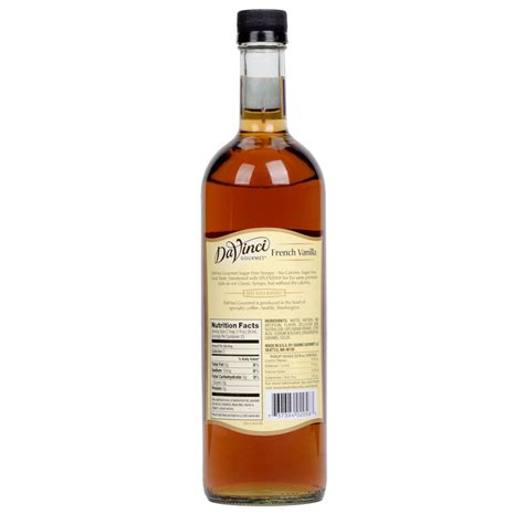 No artificial colouring or preservatives. DaVinci Gourmet 750 mL French Vanilla Sugar Free Coffee Flavoring Syrup