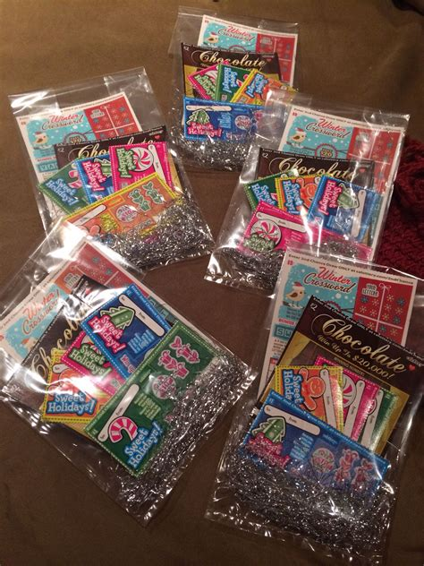 lotto ticket christmas gift bags