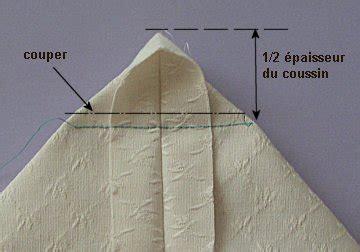 recouvrir canape coupe couture coussin épais 1ère méthode
