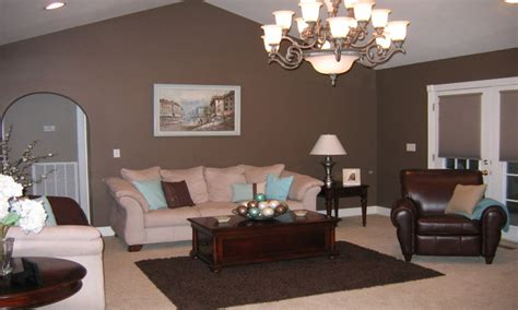 Taupe And Brown Living Room