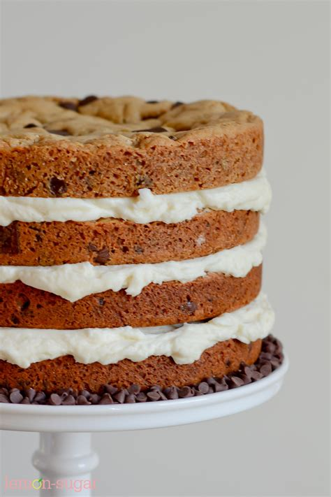 chocolate chip cookie layer cake recipe sweets