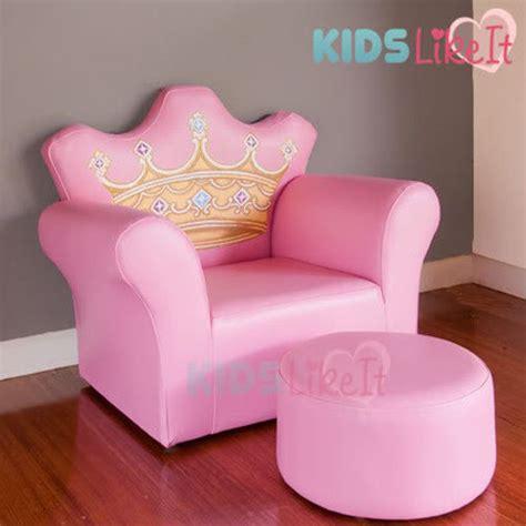 designer pink princess crown sofa chair