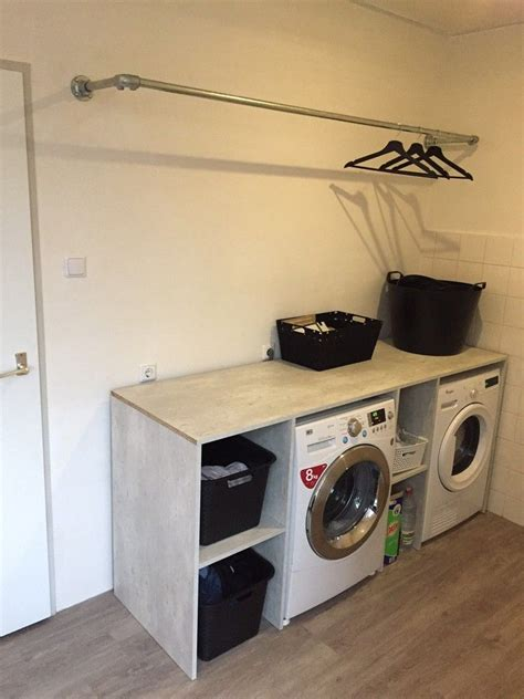 wasmachine wegwerken in badkamer cool bij ombouw om de wasmachine en de droger gemaakt de