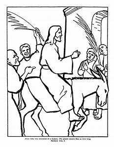Hosanna For Jesus Free Colouring Pages