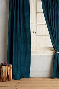 Rideaux Velours Bleu : d co bleu canard bleu paon ou bleu p trole ~ Teatrodelosmanantiales.com Idées de Décoration