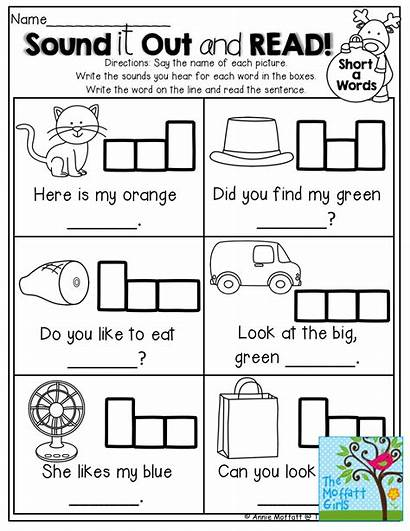 Simple Sentences Kindergarten Words Word Reading Sound