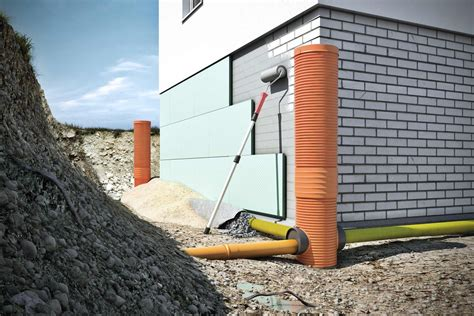 drainage hauswand aufbau entw 228 sserung durch drainage hornbach