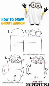 How to Draw Ghost Minions for Halloween and Trick or ...