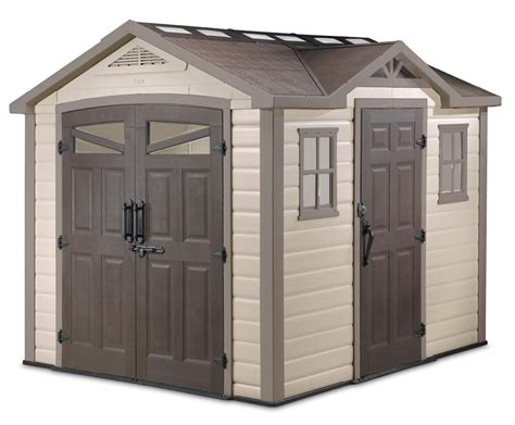 Patio Umbrellas At Home Depot by Keter Summit 8x9 Plastic Storage Shed 17190650 On Sale Now