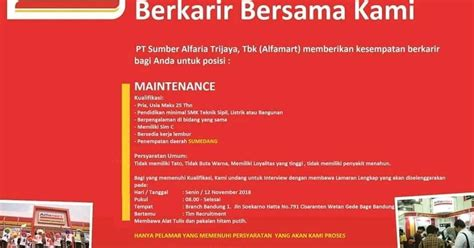 User masuk ke situs path. Lowongan Kerja Alfamart Bandung 2020 Untuk SMA SMK D3 S1 | Loker Karir