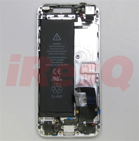 battery iphone 5 photos of iphone 5 battery in rear shell compared to