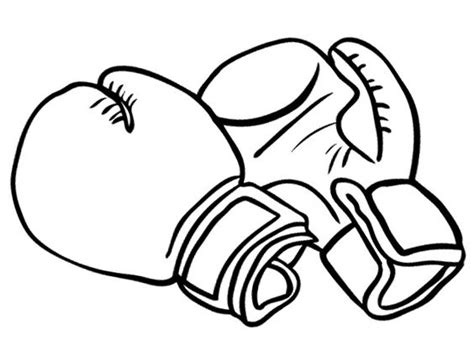 Bokshandschoenen Kleurplaat by Boxing Gloves For Strong Coloring Pages Coloring Pages