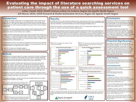 poster  evaluating  impact  literature