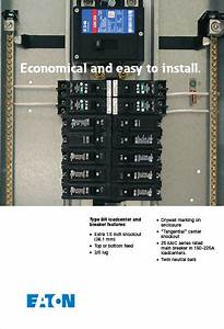 Eaton 100 Amp 20 Circuit Type Br Main Breaker Load Center Value Pack  Includes 6 Breakers