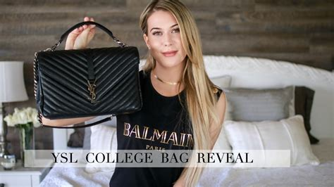 ysl college bag reveal  impressions youtube