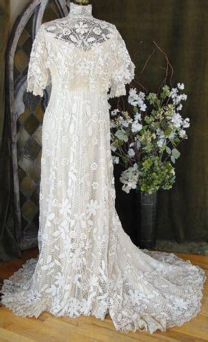 museum quality antique victorian irish lace wedding bridal