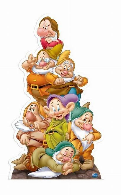 Seven Disney Snow Cardboard Party Cutout Dwarves