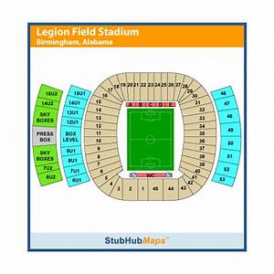 Bjcc Seating Chart Legion Field Stadium Events And Concerts In Birmingham