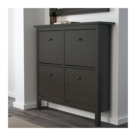 ikea tall shoe cabinet hemnes shoe cabinet with 4 compartments black brown