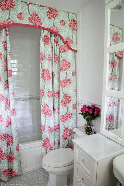bathroom drapery ideas shower curtain valance contemporary bathroom design