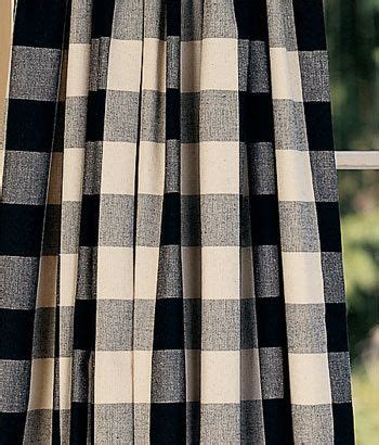 checkered curtains