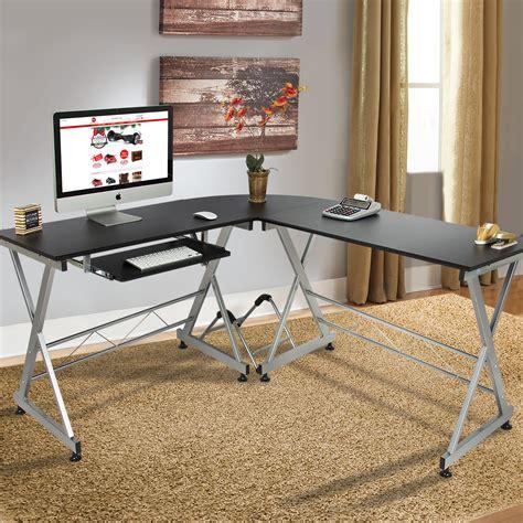 laptop workstation desk wood l shape corner computer desk pc laptop table