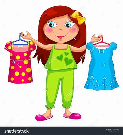 Choose Clothes Clipart Holding Wear Different Clip