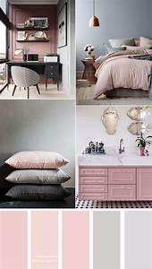 Pink, And, Grey, Color, Scheme, 15, House, Color, Palette, Ideas